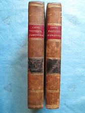 LE CAFFE POLITIQUE D'AMSTERDAM, 1778. 2 volumes complet (politique, commerce)