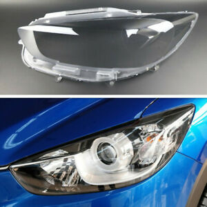 Left Side Headlight Headlamp Clear Lens Auto Shell Cover For Mazda CX-5 2013-16