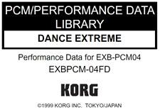 KORG EXB-PCM04 Dance Extreme Factory Preload Disk Triton EXB PCM-04FD