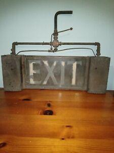 Vintage Gas Exit Sign