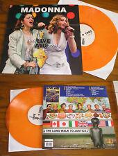 MADONNA RARE LP COLOR VINYL 1985 live aid 2005