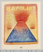 1984 Jean-Michel Folon NAPOLI Cultural Contribution Graphic Design POSTER series