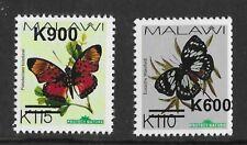 Malawi 2020 Butterflies New Issue OP (October) K110/K600 K115/K900 OP