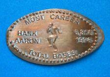 Hank Aaron elongated penny Usa cent Mlb Baseball coin Most Career Total Bases