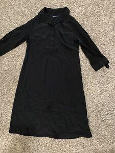 gap maternity shirt dress size xs black