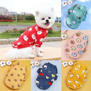 Pet Dog Cat Warm Fleece Vest Clothes Coats Puppy Shirt Sweater Winter Apparel