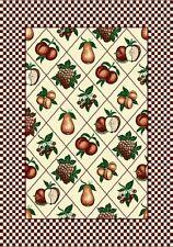 """GRAPES pear PEACH apple BURGUNDY carpet 8x11 AREA rug : Actual 7' 10"""" x 10' 10"""""""