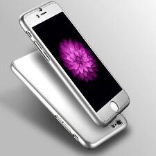 "Funda rígida ultrafina iPhone 6 6S cubierta de vidrio templado para 4.7"" híbrido 360 ° Gris"