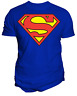 NWT Changes Men's DC Comics Superman Logo T Shirt Royal Blue Size Medium