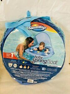 Swimways Baby Spring Float Sun Canopy Pool Swim 9-24 months NEW