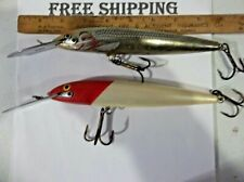 LOT OF 2 RAPALA SINKING MAGNUM CD-18 MAG LURE MUSKY STRIPER SALMON LURE USED