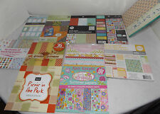 """Lot of 11 Paper Card Pack Stack Mat Pad Scrapbooking Papers 4""""x6"""" to 6""""x6"""""""