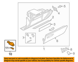 AUDI OEM 07-15 Q7-Glove Compartment Box Light 4B0947415A