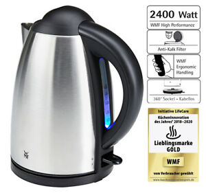 WMF Bueno Wasserkocher 1,7L Edelstahl schnurlos Kalkfilter 2400 Watt