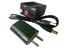 RCA L/R Analog to Digital Audio Converter Adapter Optical Coaxial Toslink SPDIF