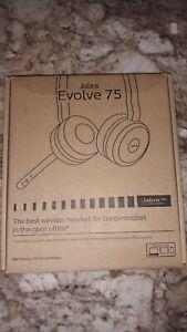 Jabra Evolve 75 On the Ear Wireless Headset Black - NEW