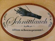 Kräuterschild Kräuterstecker Pflanzschild Emaille Emailschild Schnittlauch 50cm