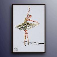 "Ballerina Woman Figure painting 40"", original oil painting on canvas, handmade"