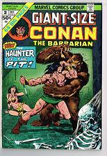 GIANT-SIZE CONAN THE BARBARIAN #2 MARVEL COMICS 1974 VF- R.E. HOWARD GIL KANE