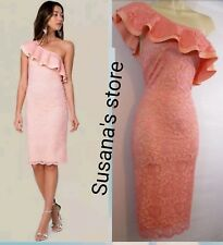 NWT bebe Lace One Shoulder Dress SIZE M Fancy-event, elegant and sexy $113.00