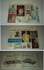 MARIE-CLAIRE 100 IDEES SUPPLEMENT 47 (9/58) VINTAGE SIMCA ARONDE P 60