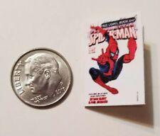 Miniature dollhouse book 1/12  Comic Book Tv show Spider-Man Action Figure White