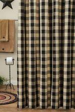 New ListingBlack Tan Wicklow Shower Curtain Buffalo Check Country Farmhouse Bath 72x72