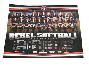 UNLV Rebels Softball 2015 NCAA Team Schedule Poster 20x16 RARE NEW