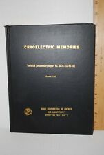 1963 RCA CRYOELECTRIC MEMORIES REPORT BOOK AIR FORCE BASE RESEARCH 256pgs