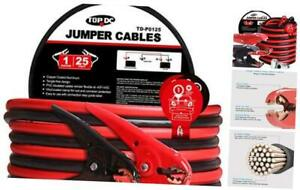 Jumper Cables 1-Gauge 25-FT -40℉ to 167℉ 700Amp Heavy Duty Booster Cables