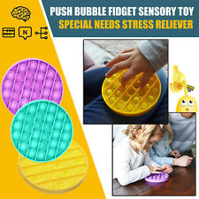Push Pop Pop Bubble Sensory Fidget Toy Autism Special Needs Silent Classroom