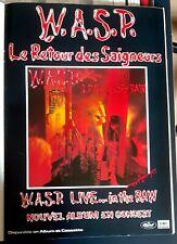 Publicité advert advertising concert album tournée WASP 1987 Lp live..in the raw