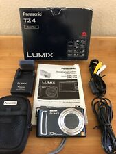 Panasonic LUMIX DMC-TZ4 8.1MP Digital Camera with Case/Battery/Charger/Cables/CD