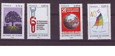 Conseil de l'Europe 2010/11 et 12- YT n°146,147,150,153 - timbres neufs à saisir