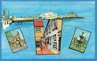 East Sussex Art Postcard, Brighton Landmarks JN3