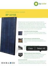 10 Solar Panels. BP-3215B. 215W Photovoltaic Module