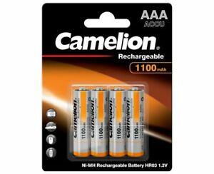 4 x Camelion Akkus AAA Micro 1100 mAh NiMH Blister aufladbare Batterien Accus