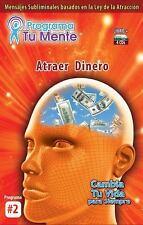 Programa Tu Mente #2 Atraer Dinero Libro y 4 CDs, Daniel Lopez, New Book