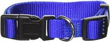 "PETMATE ASPEN TUFF NYLON BLUE COLLAR 5/8""W 10""-16"" DOG ADJUSTABLE. USA"