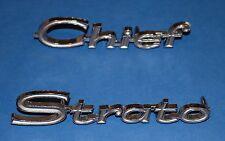 1956 1957 1958 1959 1960 1961 1962 Pontiac Chief Strato emblem NOS GM # 732187