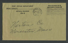 Borger Texas 1934 Postmarked POST OFFICE DEPT. PENALTY ENVELOPE Unusual Color