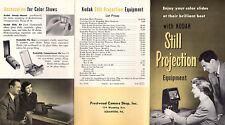 Eastman Kodak Still Projection Equipment 1952 Brochure Projectors Accessories