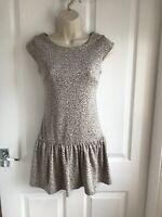 BNWT Miss Selfridge Sleeveless Grey Animal Print Dress - UK Size 8