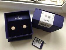 Authentic New in Box $89 Swarovski Pierced Stud Flower Earrings #5502756