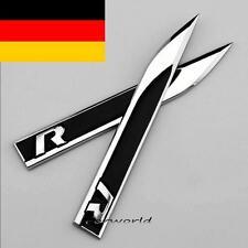 3D schwarz Metall Auto Fenders Aufkleber Embleme für Knife R R-line Racing 2pcs