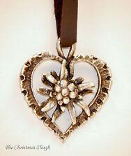 German Bavarian Austrian Women's Oktoberfest Jewelry - Pewter Edelweiss Necklace