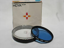 one HOYA  55mm 80B filter with case and paper box only. Japan. #00725