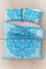 Floral mandala indian cotton duvet doona cover quilt cover bohemian bedding set