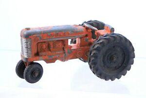 Vintage Orange HUBLEY FARM TRACTOR Metal Die Cast