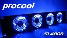 PROCOOL SL480B-E (2U) Rack Mount Exhaust Fan (4) Blue LED fans 2 rack spaces